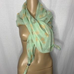 Candie's Green Scarf Bicycles NWT